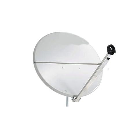 Antenne PremiumX XTS 110 cm Stahl Digital Sat Schüssel Spiegel in Hellgrau FULLHD HDTV 3D tauglich