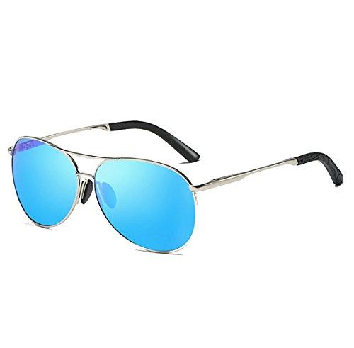 QQBL Tag und Nacht Ansicht Dual Polarisiert TAC Metall UV400 Sichtbares Licht Perspektive 99 (%) Sonnenbrille Fahren Farbe Sonnenbrille,Blue