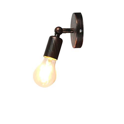 Rot Rustikal Esstisch (YXYY LED Eisen Wandlampe Innen Wandleuchte Vintage Antik Rustikal für Treppenhaus Flur Landhaus Schlafzimmer Wohnzimmer Esstisch Wandbeleuchtung(Roter Rost) [Energieklasse A+])