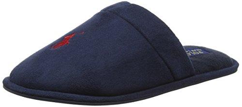 Polo Ralph Lauren Mens Sunday Scuff, Chaussons homme Bleu - Bleu (Bleu marine)