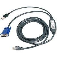 Avocent USB CAT 5 integrated access cable 2.1m 2.1m Black KVM cable - KVM cables (2.1 m, Black, PCs, KVM switches, USB, VGA, RJ45)