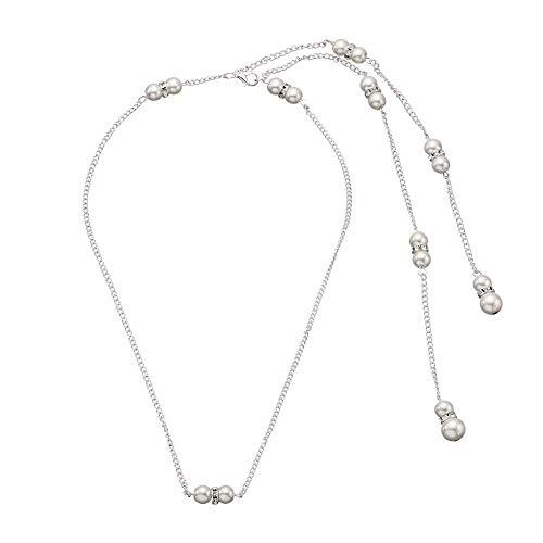 Brautschmuck Europa und Amerika Diamant perlenanhänger quaste zurück Kette Braut Halskette ()