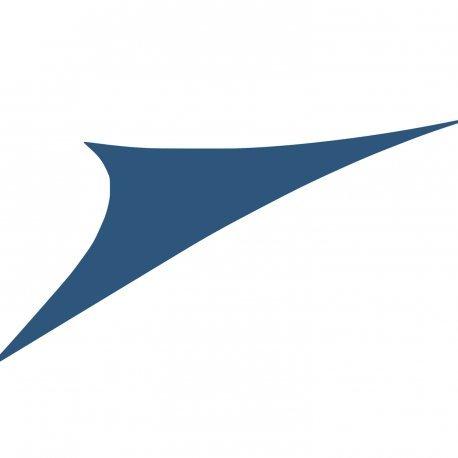 Easywind - Voile d'ombrage 400x400x570cm - Toureillo - Forme Triangulaire, Coloris Bleu, Tissu Extensible
