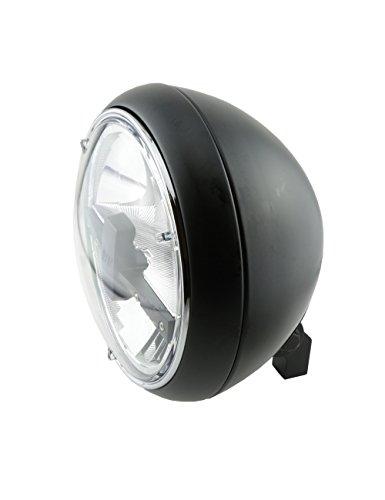 HIGHSIDER Yuma 2 Typ 3 Motorrad 7 Zoll LED-Scheinwerfer, E- geprüft (Schwarz) 3-led-scheinwerfer