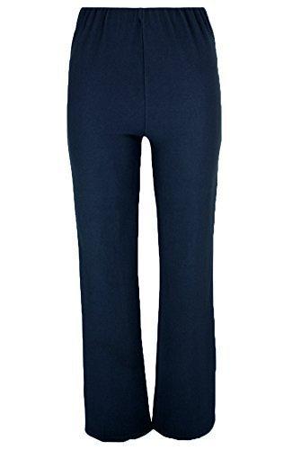 Ladies Nurse Work Carer Keep Fit Stretch Elasticated Bootleg Trousers In 3 Lengths (8-26) (12 (Regular 29