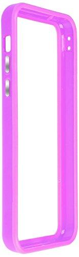 Horny Protectors iP5c-4012c TPU Silikon Schutzhülle für Apple iPhone 5c (nicht 5S) transparent/gelb Lila chrome