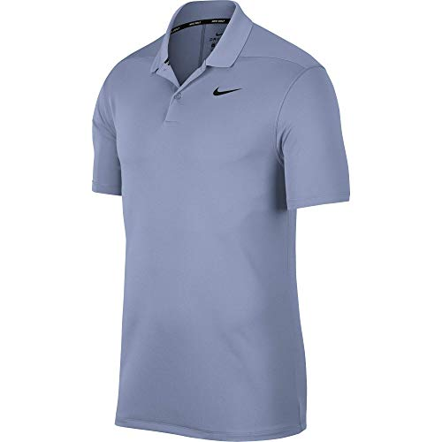 Nike Herren Dri-Fit Victory Poloshirt, Indigo Fog/Black, XL (Polo Nike Dri-fit Golf)