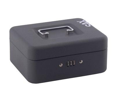 Sax 0-810-19 Geldkassette, B 20 x H 9 x T 16 cm, schwarz