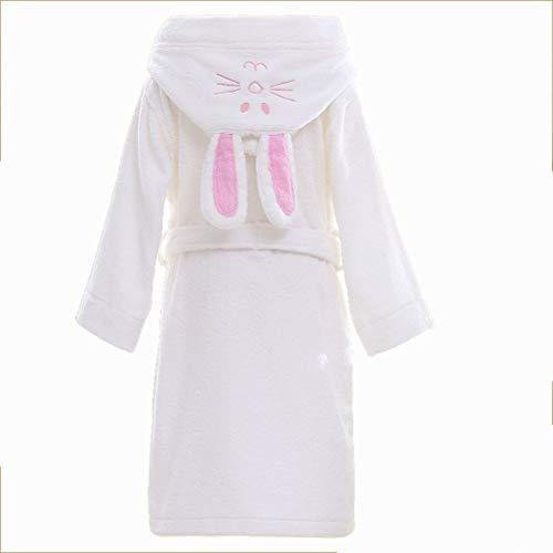 Childern Hood'n Baumwolle Handtuch Robe Bademantel Thema Party Kostüm Robe (weiß) (größe : M) (N Themen Kostüm Party)