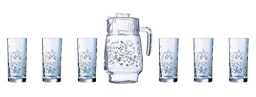 Luminarc Romantique Beverage Set, 7-Pieces, Multicolour