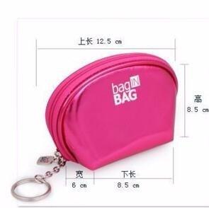 KAFEI Borsa di stoccaggio delle donne sacchetto di trucco dell'unità di elaborazione Casual Baguette Zipper All Seasons, fucsia Fuchsia