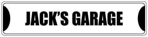 Jack Post Möbel (qidushop Jack's Garage schwarzes Straßenschild aus Aluminium für Frauen)