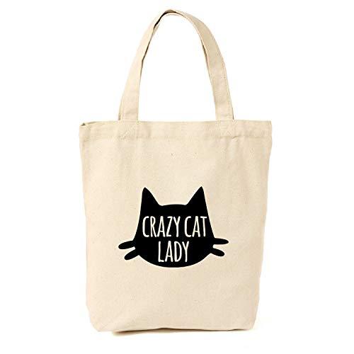 Crazy Cat Lady - Bolsa de lona para gatos, regalo para amantes de los gatos