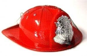 Helm - Feuerwehrhelm für Kinder rot mit erhabenem (Hüte Feuerwehrmann)