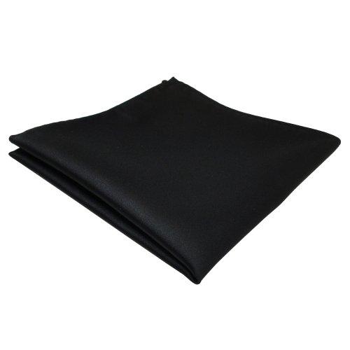 schönes TigerTie Einstecktuch schwarz einfarbig - Tuch Polyester (Schwarzes Einstecktuch)