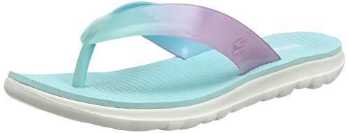 Skechers Nextwave Ultra, Chanclas para Mujer, Turquesa Turquoise Pink Tqpk, 39 EU