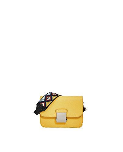 Borse Yy.f Fiori Caramelle Di Colore Borsa A Tracolla Tracolla Portafogli In Pelle Di Vitello Signora 3 Colori Yellow