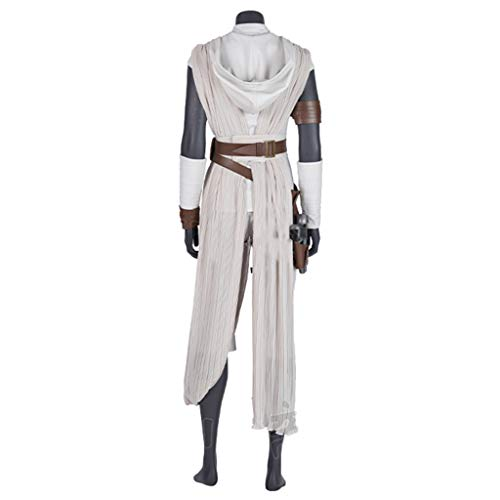 Kostüm Skywalker Rey - nihiug Star Wars 9: Skywalker Rise Cosplay Kostüm Heldin Rey Rey Schal Full Cos Kostüm Halloween,White-M(163to167)