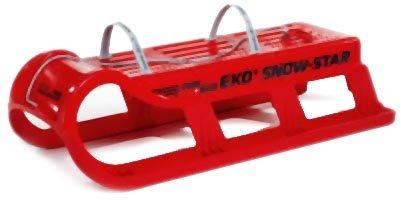 EKO Snowstar 100 2er Familienschlitten 2-Sitzer, Rot