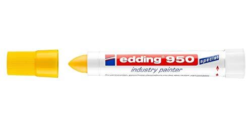 Edding 950 Marcatore a Cera per superfici impossibili Blister 1 pz. Colore Bianco Tratto 10mm