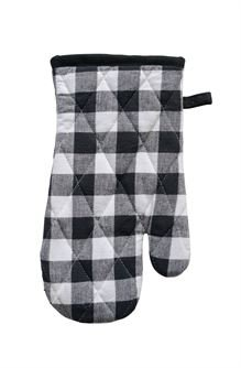 Creative Co-op 30,5cm Baumwolle Gingham Ofen Handschuhe-Schwarz und Weiß Kariert Buffalo Plaid-Beeinflußt-Kreatives Geschenk Idee Weihnachten Geburtstag
