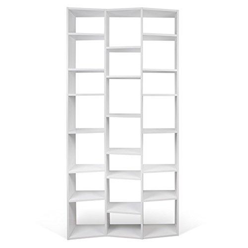 Paris Prix - Temahome - étagère Bibliothèque valsa 21 Casiers PM Blanc Mat