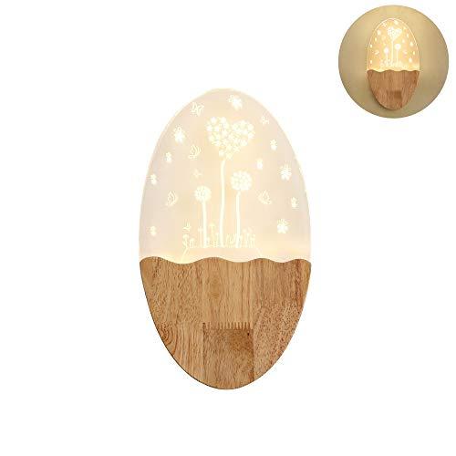 Massivholz Wohnzimmer Wandlampe Wohnzimmerlampe Kreisebene Helles Eichenholz Schlafzimmerwandlampe Im Vintage-Wandleuchte Mit LED-Leuchten Innen-Kinderzimmer Innenflurbeleuchtung Lampen