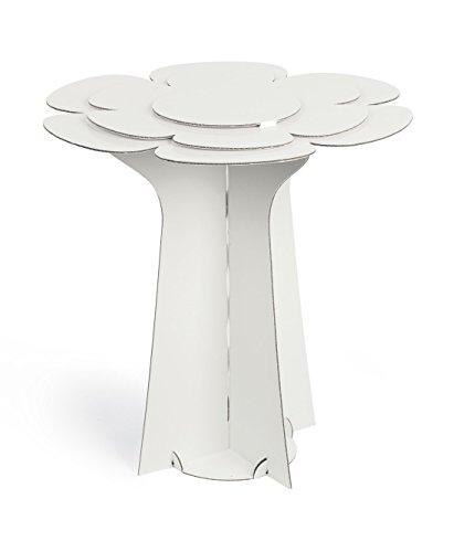Subito disponibile Alzata Alzatina Tavolino Cartone Fiore Bianco 60 X 58 cm