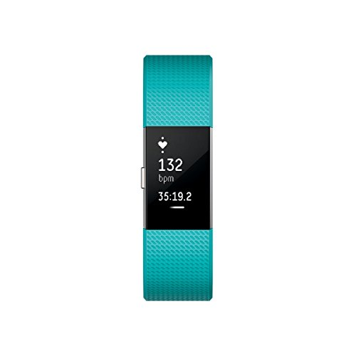 Fitbit Charge 2 Activity Tracker with Wrist Based Heart Rate Monitor – Teal/Large