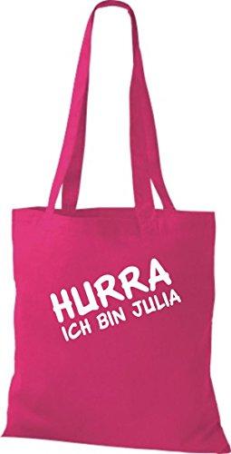 Shirtstown, Borsa tote donna Rosa (fucsia)