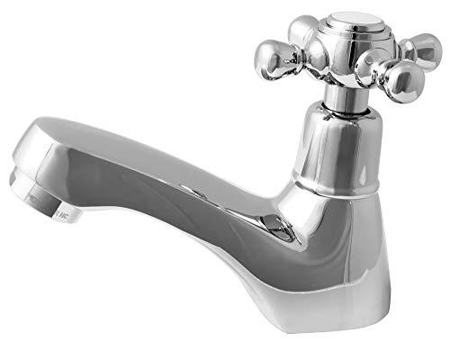 Kaltwasser Armatur Wasserhahn Kreuzgriff Retro 1/2' Zoll Chrom