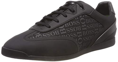 BOSS Glaze Lowp Logo Scarpe da Ginnastica Basse Uomo, Nero (Black 001) 42 EU