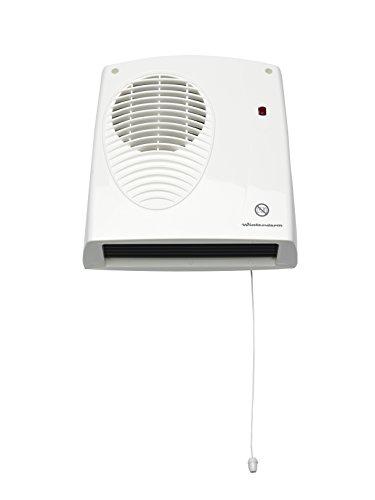 Winterwarm WWDF20N - Ventilador calefactor clasificación IPX2, 2000W, color blanco