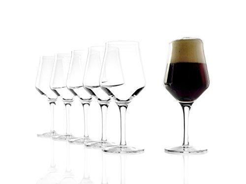 Stölzle Lausitz 0,3l Craft Bier Gläser, 430 ml, 6er Set, hoch funktionelle, Bierglas mit neuem Design, für alle Craft Biere geeignet, hochwertige Qualität