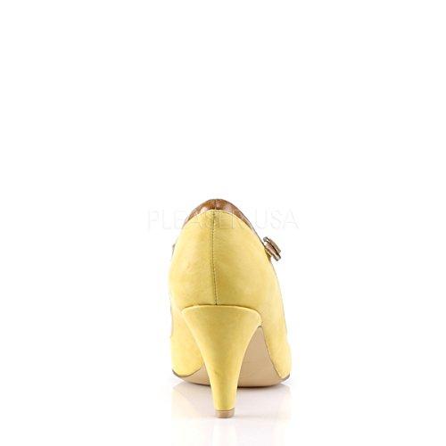 03 strap amarelo Damen Pinup costura Burlescas T Bombas Pêssego TvqRwxTS
