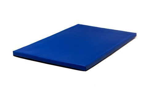 Fun!ture Royal Blue 2 inch Thick 4ft x 3ft Soft Play Gym Mat PVC Faux Leather Crash Floor Mat Safety Foam Filled