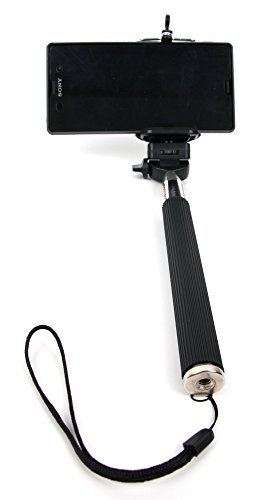 Duragadget Perche/Selfie Stick télescopique pour Nikon D5600, Panasonic GF9 / Lumix DC-FZ82, Polaroid Pop appareils Photo, avec Support Ajustable