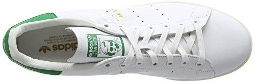 adidas Stan Smith, Scarpe da Ginnastica Basse Uomo Bianco (Footwear White/footwear White/green)