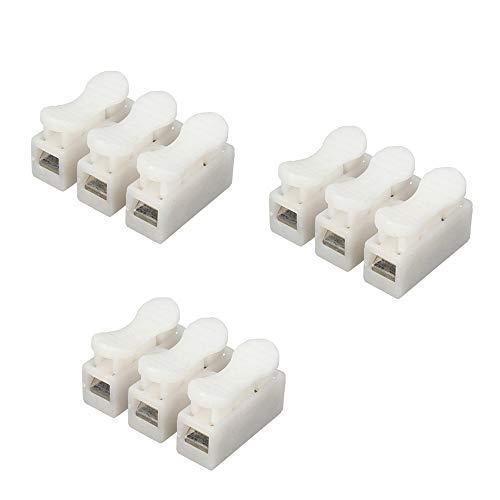 DWE 50 piezas CH-2 conectores de cable de resorte eléctrico abrazadera de...