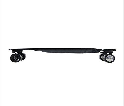 Elektrisches Vierrädriges Skateboard-Drahtloses Fernsteuerungs-Superdünnes Doppelt-Antrieb Roller-Erwachsenes Edelstahl-Roller-Straßen-Fernsteuerungs-Super-Kühler Doppel-Antriebs-Roller (Schwarz