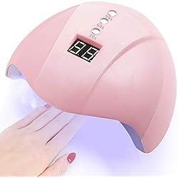 Charmss Séchoir à ongles portable 36W avec séchoir à vernis à ongles UV à capteur de 12 DEL, lampe à ongles UV pour machine à sécher le gel, 30s 60s 90s Timer Professional Manicure.