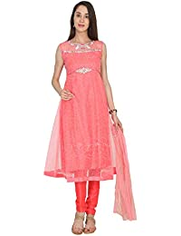 c034b6131e Rambha Women s Silk Georgette Heavy Embroidered Readymade Salwar Suit -  Color Punch