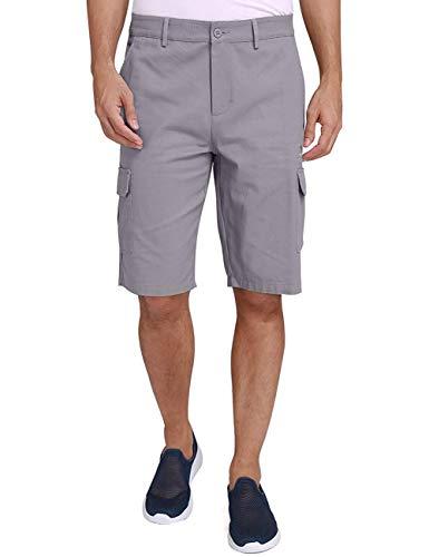 CAMEL CROWN Herren Cargo Shorts Sweatshorts Kurze Hose Reißverschluss 100% Baumwolle Sommer Shorts für Männer Lässige Hosen mit Taschen Freizeithose Regular Fit (Herren Hosen Golf)