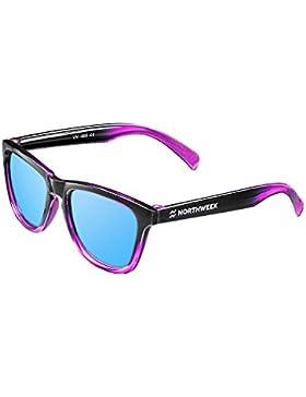 NORTHWEEK Kids Salina - Gafas de Sol para Niños Polarizadas, Unisex, Azul Hielo/Rosa