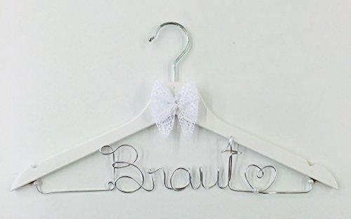 Kleiderbügel 'Braut' silber für Hochzeit - individuell gestaltbar