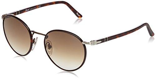 PERSOL Herren 2422SJ Sonnenbrillen 51 mm, Braun (Gestell: braun, Gläser: braun-verlauf klar 992/51), 51 mm