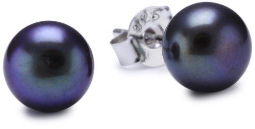 Sakura Pearl AM003 - Orecchini a lobo da donna, argento sterling 925