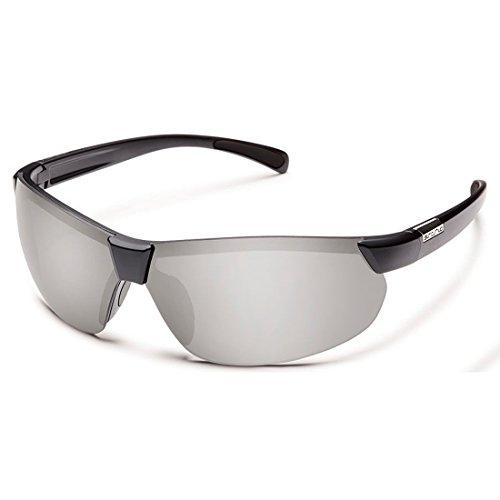 Suncloud S SKPPSVMBK Unisexe Noir Frame Argent Objectif sport lunettes de soleil polarisées