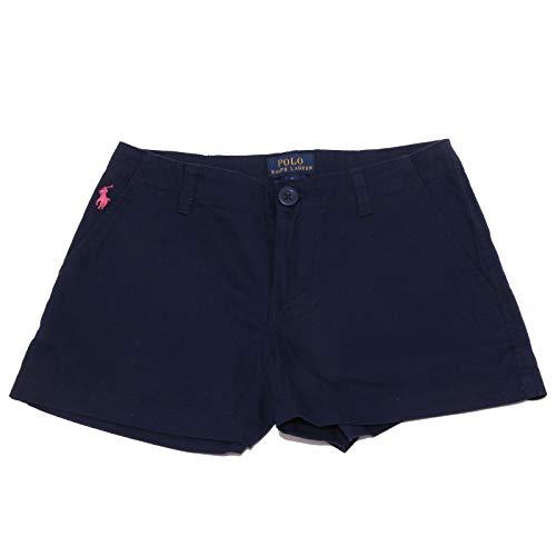 Ralph Lauren 3412X Pantalone Corto Bimba Girl Short Blue Pant [12 years]