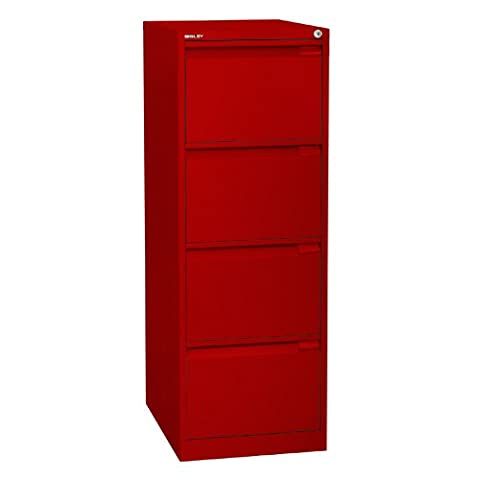 Bisley BS4E 4 132 cm Filing Drawer - Cardinal Red